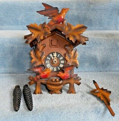Vintage West Germany German Cuckoo Clock Manufacturing Co Pine Cone Weights