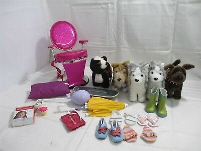 American Girl Doll Accessories Collection; Salon Chair, Dogs, Shoes ++