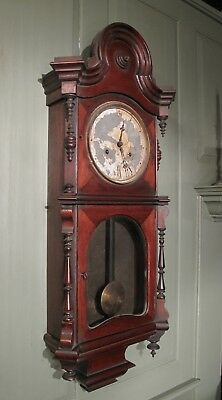 E.N. WELCH REGULATOR NO. 4 WALL CLOCK WITH 30 DAY MOVEMENT  ~ c 1870s