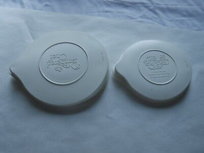 2 Pampered Chef Measuring Cup/Batter Bowl Replacement Lids 2 & 1 Qt Pre-Owned