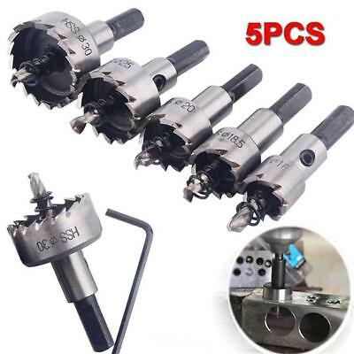 5X Hole Saw Tooth Kit HSS Steel Drill Bit Set Cutter Tool For Metal Wood Alloy S