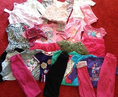 Huge Lot Of Girls School Clothes Old Navy Tops Pants Dresses Outfits Size 3T 4T