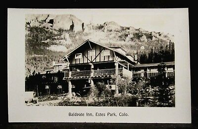RPPC Baldpate Inn Hotel, ESTES PARK, CO COLO Colorado REAL PHOTO postcard