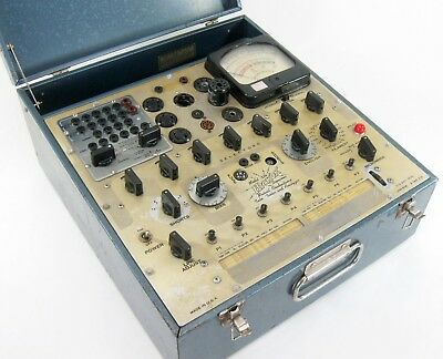 Hickok 534 Mutual Conductance Vacuum Tube Tester Serviced Working