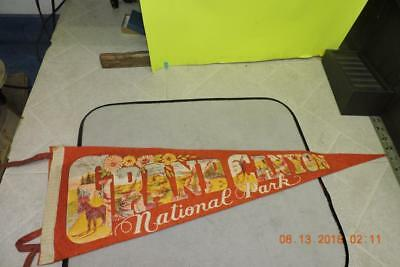 Antique Colorful Wool Felt Pennant Grand Canyon National Park Indian Hopi Point