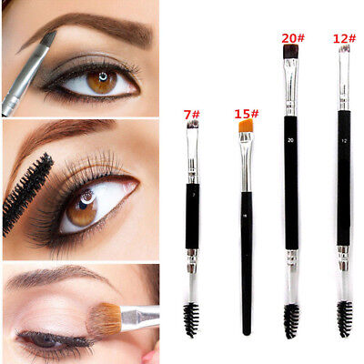 Fashion Beverly Hills Eyebrow And Eyeliner Shaping Duo Makeup Brush New 1Pc