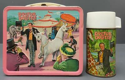 Vtg 1967 Doctor  Dolittle Circus Aladdin Metal Lunchbox Thermos 20th Century Fox