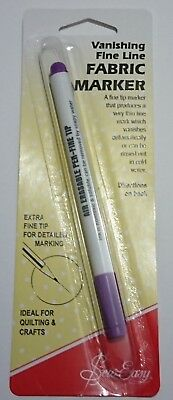 Sew Easy Vanishing Line Fine Liner Fabric Marker Lasts 48 Hours Rinse Cold Water