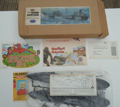 Young Model Builders Club 1 Sealed Revell ship Kit & assorted advertisments 1980