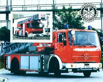 Fire Engines On Stamps - 2 Sheet Set 103-03-4