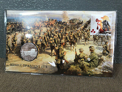 New Mint Uncirculated 2018 Battle of Amiens 1918 50c PNC Limited to 7000