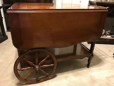 Antique Grand Rapids Imperial Tea Cart/Trolley In Maple Finish, 1930-1940's