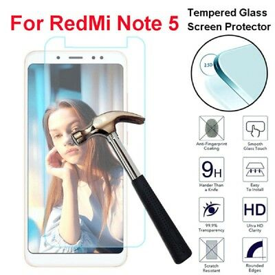 9H+ Real Tempered Glass LCD Screen Protector Guard For Xiaomi Redmi Note 5