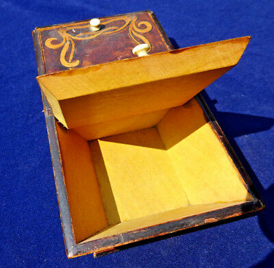 Eglish Minature Cutlery Box Circa 1900 Gorgeous Desk Tidy