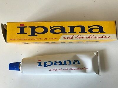IPANA TOOTPASTE - FULL TUBE - IN ORIGINAL BOX -  grocery shop Chemist
