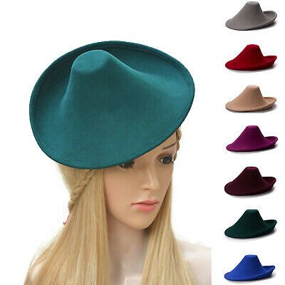 New Ladies Wool Felt Hat Millinery Supply Fascinator Base Royal Ascot A264