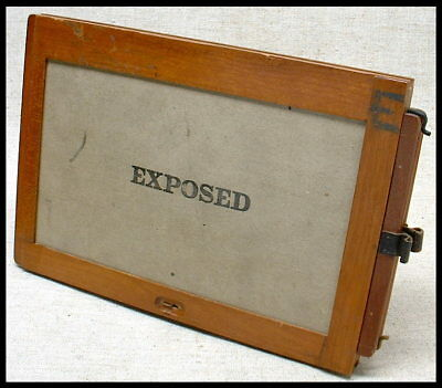 Rare 5x8 plate holder for 1886 Eastman Dry Plate & Film Company view camera!
