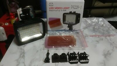 40M Waterproof 60 LED Diving Video Light 1800LM . M#SL 101. NEW/NO BATTERIES