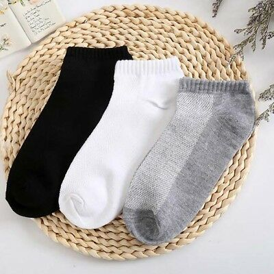 10 Pairs Men's Invisible No Show Nonslip Loafer Boat Ankle Low Cut Socks BS