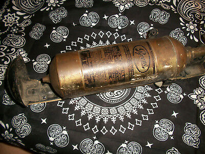 Vintage Pyrene Brass Fire Extinguisher with Holder !