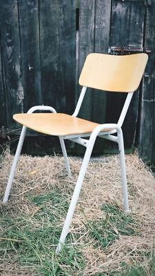 15 Vintage Mid Century Stacking School Stackable Cafe Bar Kitchen Dining Chairs
