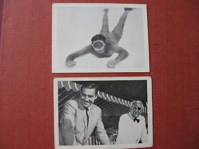 2 James Bond Thunderball Somportex Bubble gum cards numbers 57,58