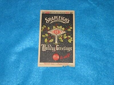 Vintage Shapleigh's Post Card-Dec-1935-36