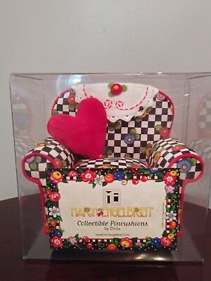 Mary Engelbreit Pin Cushion Chair Checked With Flower Print 2001 New