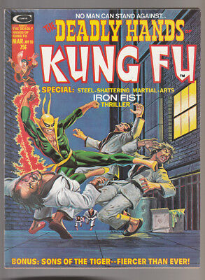 Deadly Hands of Kung Fu # 10  Special Iron Fist Issue !  grade 6.5 scarce book !