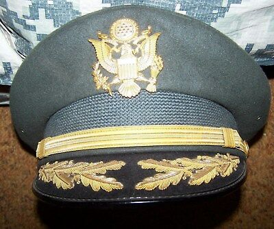 Army Staff Officer's Service Dress Hat, Size 6 7/8, U.s. Issue *nice*