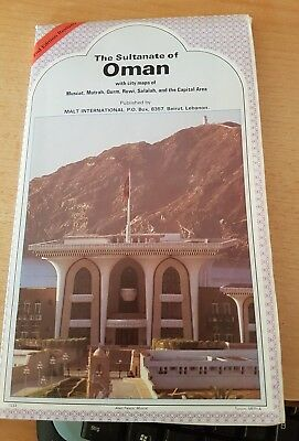 Map The Sultanate Of Oman 1983