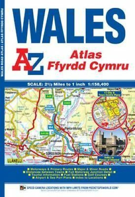 Wales Regional Road Atlas by Geographers' A-Z Map Company 9781843489092