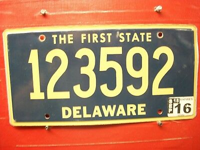 Delaware = 2015 Jul  = Passenger  = License Plate = 396