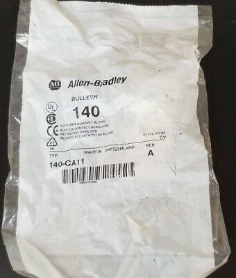 New Allen Bradley 140-Ca11 Aux. Contact Block 140Ca11, Ser. A