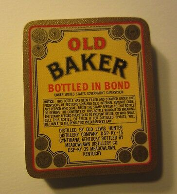 Wholesale Lot of 100 Old Vintage - OLD BAKER Whiskey LABELS - Kentucky - Yellow