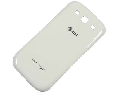 White AT&T Samsung Galaxy S3 S 3 SIII i747 Battery Door Back Cover Replacement