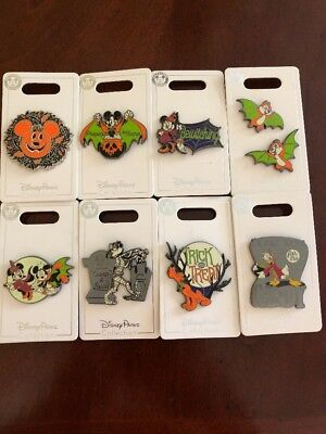 Disney 2018 Halloween Pins Complete Set Of 8 New Pins