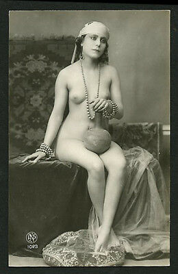French YOUTHFUL Exotic Nude GYPSY Gitane Harem NP Photo 1915 ~ PARIS Latest!