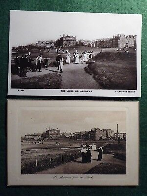 Fife.  St Andrews Golf. Two Views of the Links.