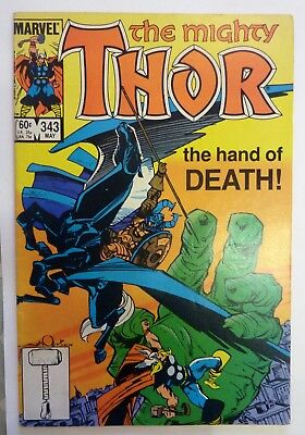 The Mighty Thor 343 Marvel Fine Condition Modern Age