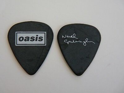 Oasis Noel Gallagher Black Signature Tour Concert Issued Guitar Pick