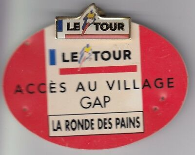 Rare Pins Pin's .. Velo Cyclisme Cycling Tour De France +Encart Pass Gap 1990~Ea