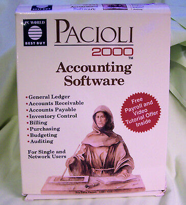 Pacioli 2000 Accounting Software  For Ibm Compatible Computers With 5.25 Floppy