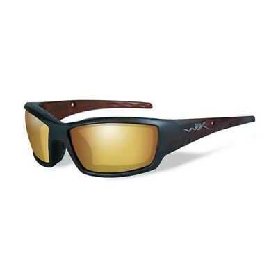 Wiley X CCTID04 Tide Sunglasses Venice Gold Mirror Lens Hickory Brown Frame
