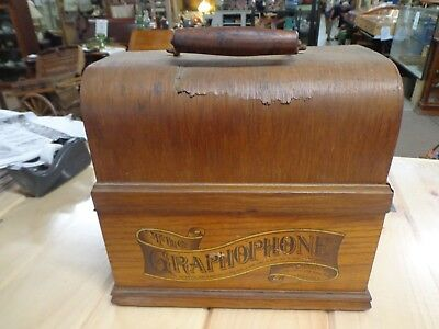 Vintage  Columbia Graphophone  Type A Cylinder Phonograph Record Player 1800's