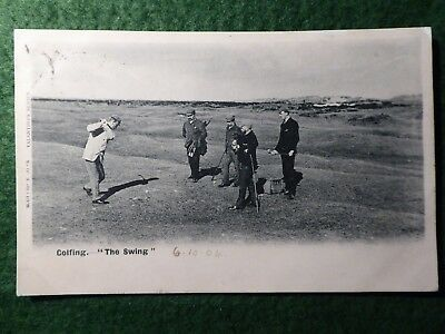 "Fife.  St Andrews.  Golfing  "" The Swing ""  With Hugh Kirkaldy.  1904."