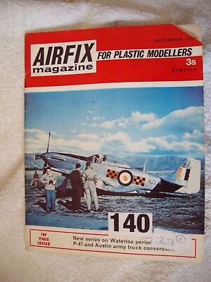 Vintage Airfix Magazine December 1970.....For Plastic Modellers - Great Old Mag!