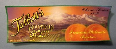 Wholesale Lot of 100 Old Vintage - Talbott's PEACHES LABELS - Palisade Colorado