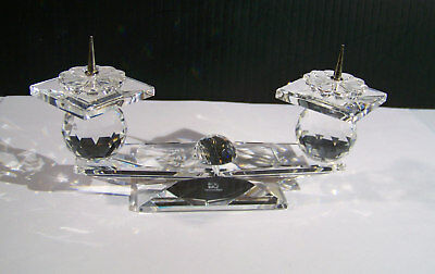 Swarovski Crystal Candle Holder 2 Arms ( with pins)
