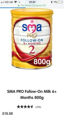 SMA Pro Follow-On Milk stage 2 6+ months 800G Brand New